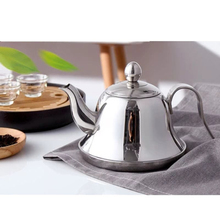 Fashion Silver Color Tea Pot With Filter Type Hotel Home Kettle Stainless Steel Water Handle 1L/1.5L