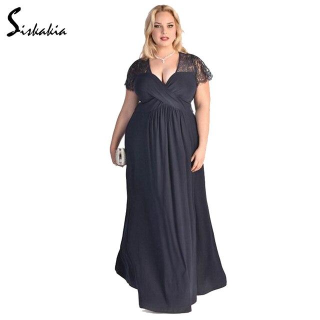 Большие размеры вечерние платье Украина дамы длинное платье элегантные модные летние вечерние ужин этаж Длина Платья для женщин женские 3XL 4XL 5XL 6xl