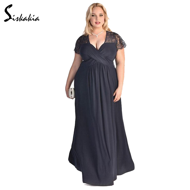 Grosse Grossen Party Kleid Ukraine Damen Lange Kleid Elegante Mode
