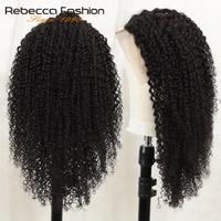 Rebecca 150% Kinky Curly Human Hair Wigs Women 13X4 Full End Human Hair Wigs Kinky Curly Lace Front Human Hair Wigs 8 to 28 Inch