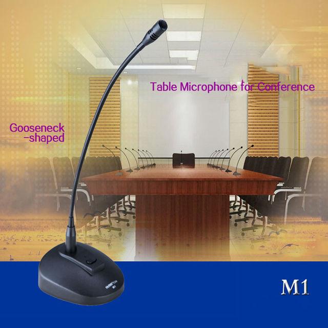 EAROBE M1 professional conference microphone amplifier computer recording condenser microphone Gooseneck desktop MIC