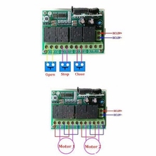 Universal Wireless Remote Control 12V 4CH Channel 433Mhz Switch Integrated Circuit With 2 Transmitter DIY Replace Parts Tool Kit