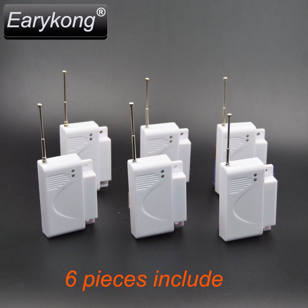 Free shipping High quality GSM font b Alarm b font System 433Mhz new 6pcs wireless Door