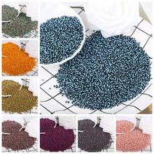 1000 pçs/lote 2mm Duas-cores Contas Buraco Redondo Tricolor Sementes Esferas De Vidro de Cristal Contas Para Fazer Jóias Colar Handmade DIY