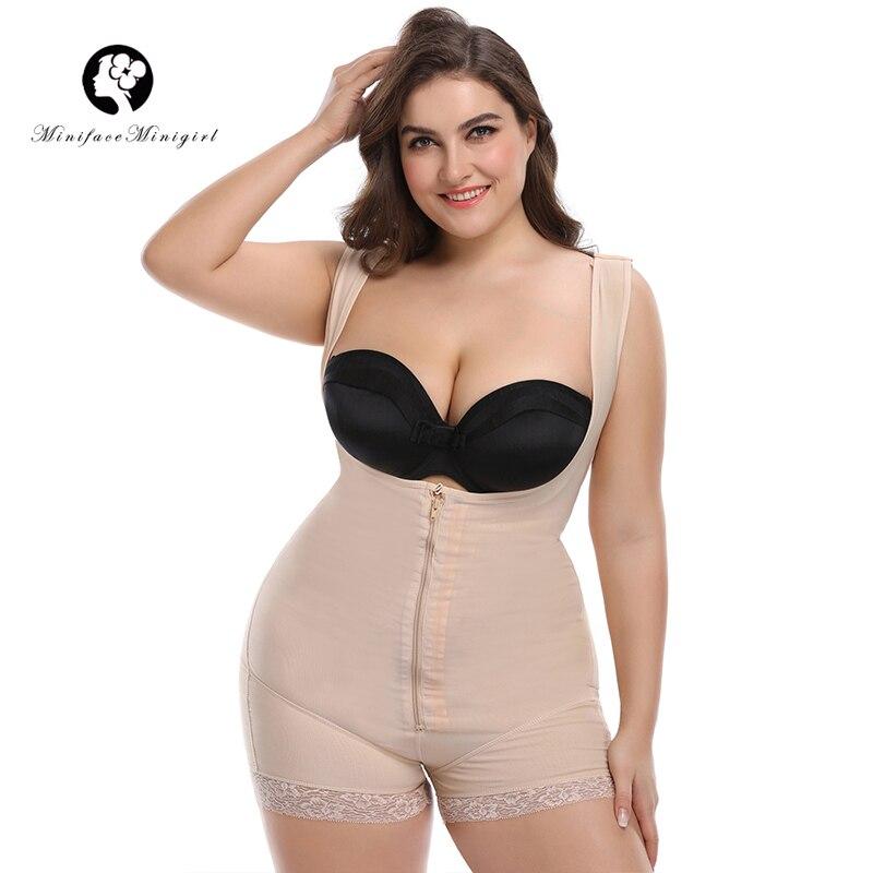 Minifaceminigirl cordón caliente adelgazante cuerpo Shaper Feminino Bodysuit modelado Correa ropa interior mujeres Body 6XL más tamaño Shapewear