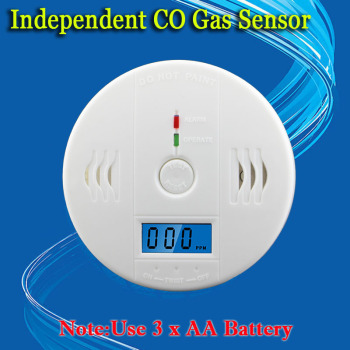 free shipping!LCD CO Sensor Work alone Built-in 85dB siren sound Independent Carbon Monoxide Poisoning Warning Alarm Detector 1