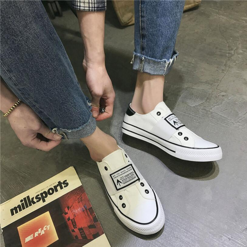 2019 Hot Sale Adult spring new breathable canvas shoes Men And Women Fashion Leisure Shoes Teenager Shoes Student shoes in Men 39 s Vulcanize Shoes from Shoes