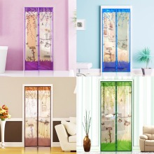 4 Color Curtain Anti Mosquito Magnetic Tulle Shower Curtain Door Screen Mesh Net Protective Window Summer 90/100 x 210 CM
