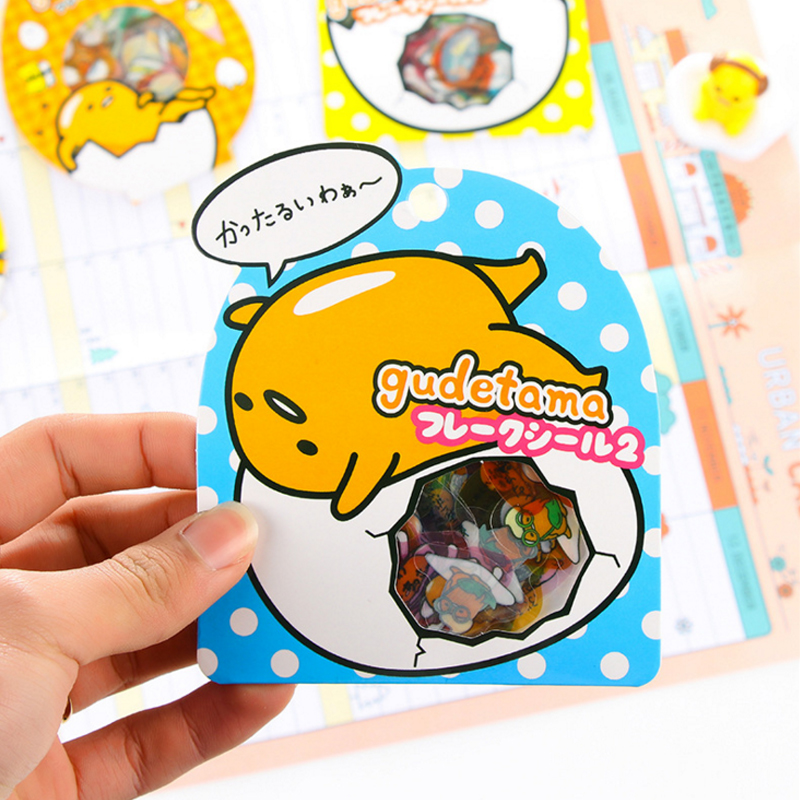 4 Sets/Lot Cute Egg PVC Sticker Funny Adhesive Sticker for Diary Album Scrapbooking Stationery School Supplies Total 240 Pcs 8 pcs lot funny sticker cute bear penguin cat decorative adhesive for diary letter scrapbook school supplies stationery