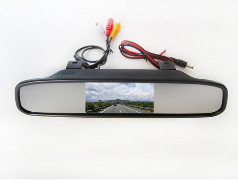 car parking sensor with wireless Camera CCD Car Rear View With 4.3 inch Car Rearview Mirror Monito for KIA Sportage R 2010-2014