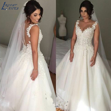LAYOUT NICEB SHJ273 Appliques Wedding Dress 2019 A-Line