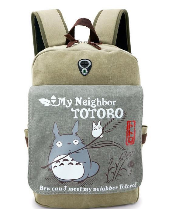 2017 My Neighbor Totoro Backpacks Cosplay Accessory Anime Daily Bag Cartoon Tonari no Totoro Travel Bags my neighbor totoro pu purse tonari no totoro penny wallet with button type a