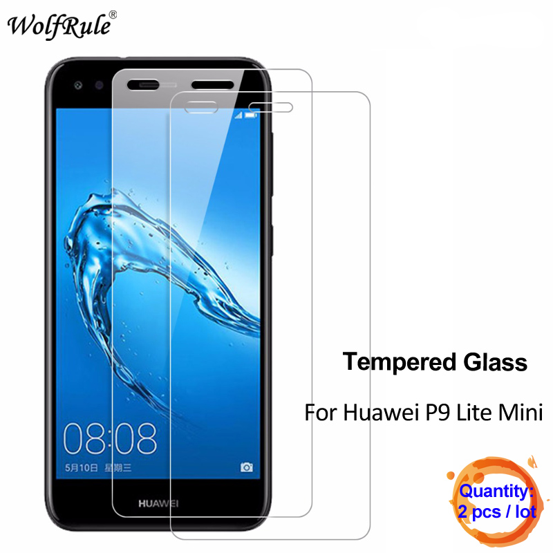 Galleria fotografica 2Pcs For Glass Huawei P9 Lite Mini Screen Protector Tempered Glass For Huawei P9 Lite Mini Glass Protective Phone Film WolfRule