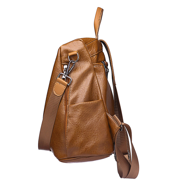 Vintage Styled Anti-Theft Women's Backpack