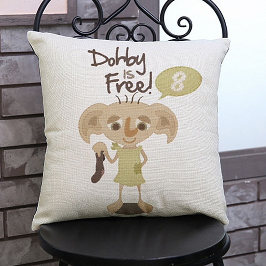 Star Wars Cute Dobby Clone Trooper Cartoon Throw Pillow Cover Home Decoration Sofa Cushion Cover 45x45cm Square Pillow Case