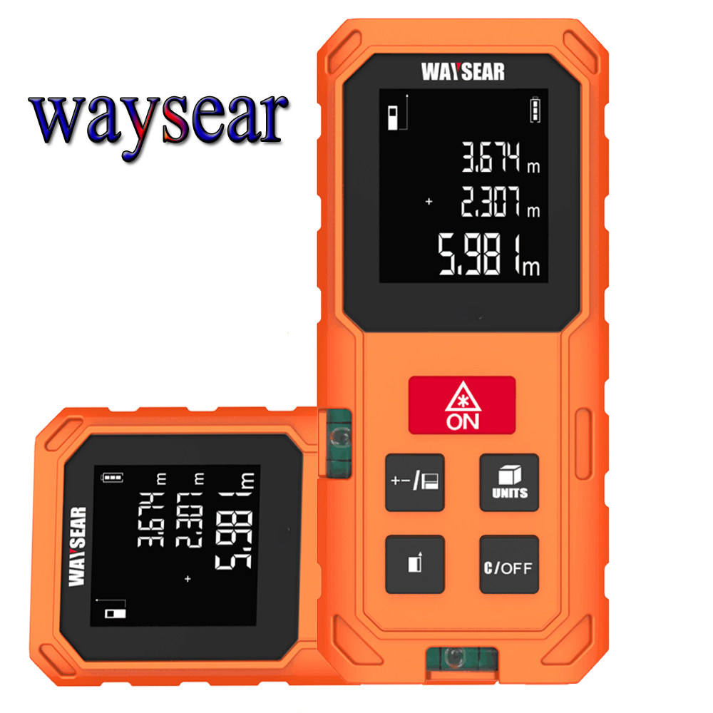 WAYSEAR laser distance meter 40M 60M 80M 100M laser range finder trena laser rangefinder roulette laser tape measure ruler tool mxita 1 2 5 60n adjustable torque wrench hand spanner car wrench tool hand tool set