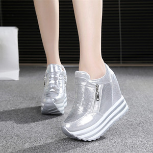 2019 Spring Autumn 12 cm thick wedge bottom increased casual shoes for women's shoes in the fashion high platform shoes