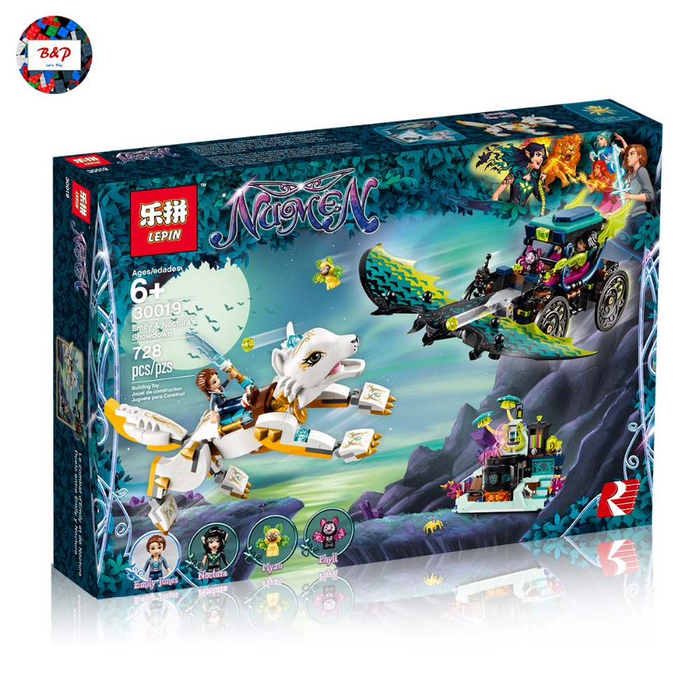 Legoing 41195 Elves Series 728Pcs Emily & Noctura's Showdow Set Building Blocks Bricks Toys For Children Girls Toys LEPIN 30019 lepin 30017 505pcs elves series the aira