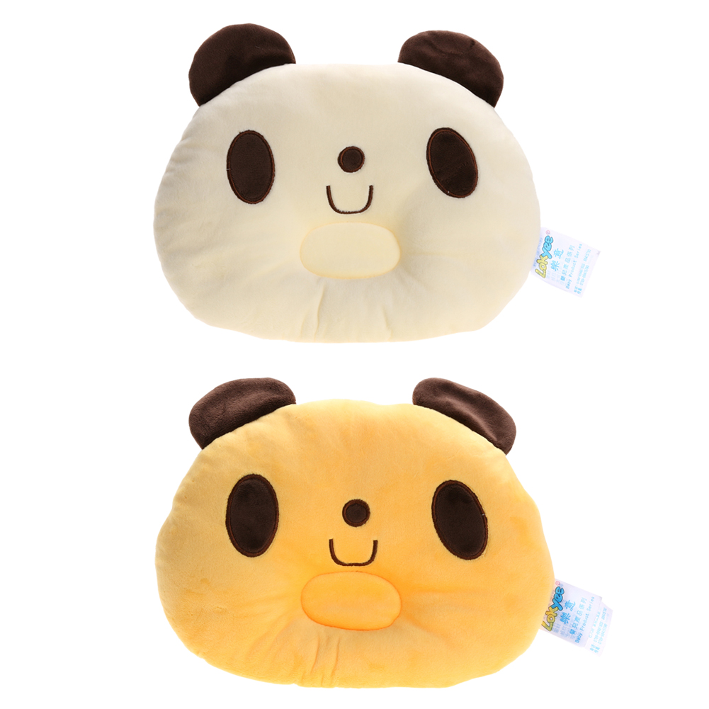 Baby Pillow Lovely Panda Pattern Prevent Flat Head Pillow 3D Neck Protecting Baby Infant Soft Cartoon Sleeping Positioner
