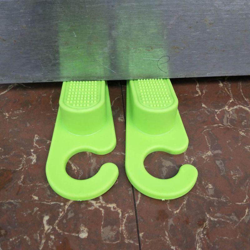 2Pcs Soft TPR Door Stopper Anti Slip Jammer Kids Finger Safety Guard Anti Slamming Doors Baby Hands Anti Pinch Protector