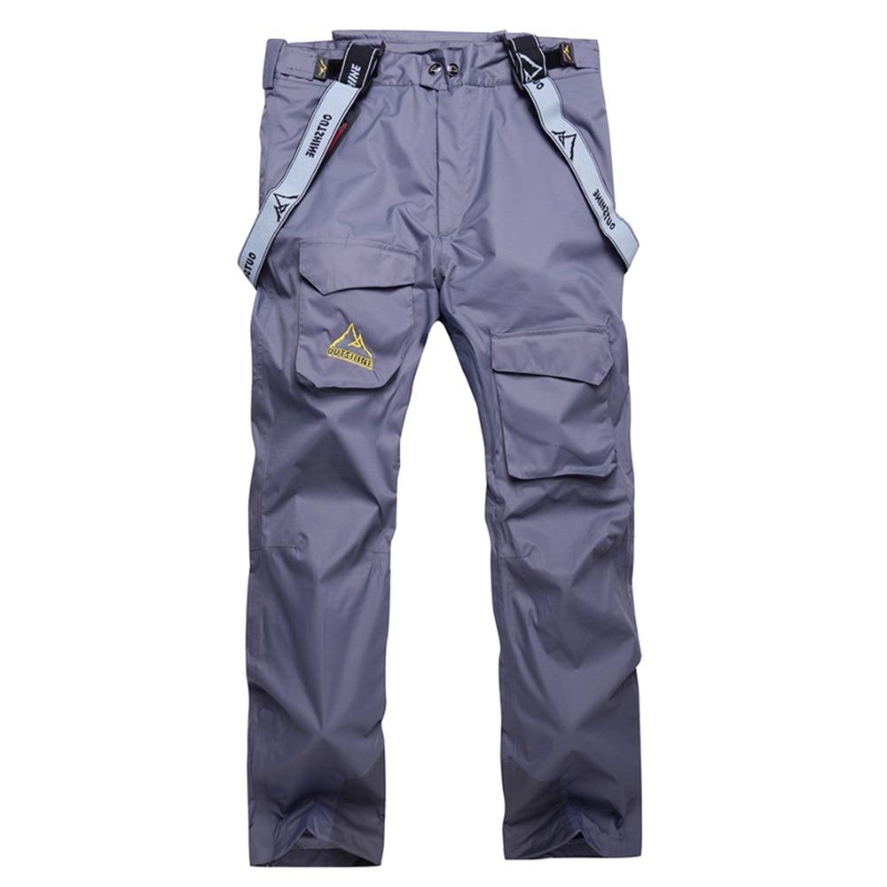 ФОТО Mountain Windproof Snowboard Pants Men Snow Trousers Waterproof Thicken Warm Ski Pants Outdoor Hiking Camping Pants Winter