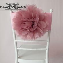 10 шт. Румяна розовая фигурка скамейки лента органза фигурка скамейки группа Chiavari стул Румяна розовая Цветочная рама стула