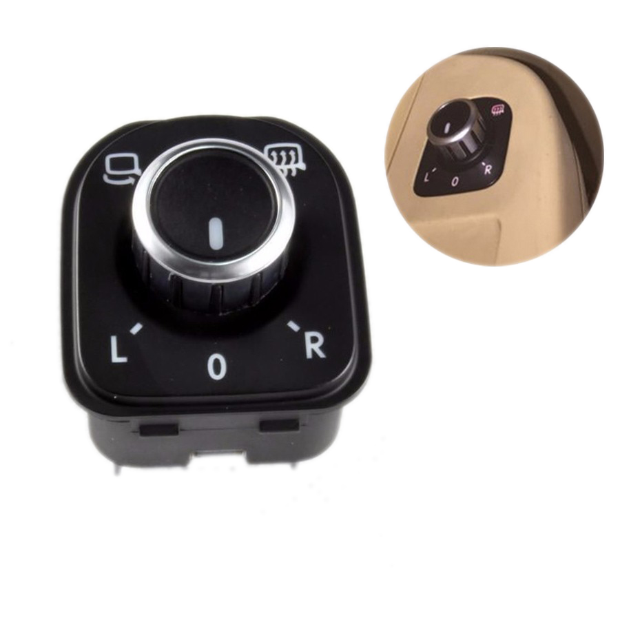 TUKE OEM Rearview Mirror Switches Knob Folding With Electric Reheat For VW Tiguan Golf Passat B6 Jetta MK5 5ND 959 565 A
