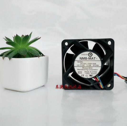 <font><b>NMB</b></font> 6038 2415KL-04W-B96 <font><b>DC</b></font> <font><b>12V</b></font> 2.1A 6CM PWM Four Wire Temperature Control Large Air Volume Server Cooling <font><b>Fan</b></font> image
