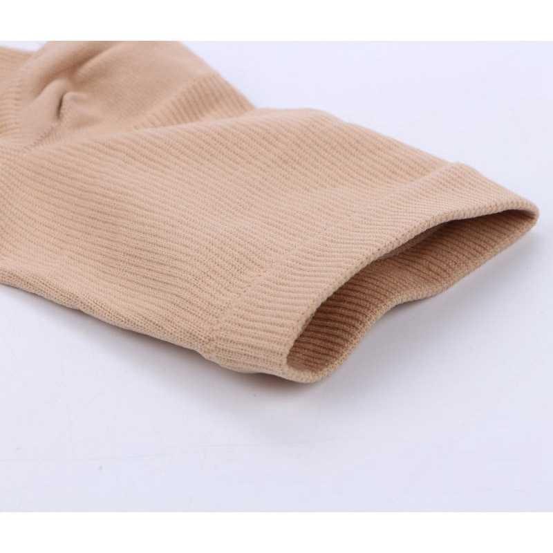 2 ペア圧縮ソックス男性/女性オープントゥ脚サポートストッキング膝ハイソックスジッパー 15-20 mmhg