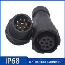 1PC Waterproof Cable Connector 2/3/4/5/6/7/8/9/10/11/12 Pin Male Female Aviation Plug Socket IP68 Outdoor Wire Connectors waterproof connector aviation plug sp16 type ip68 cable connector socket male and female industry wire cable 2 3 4 5 6 7 9 pin