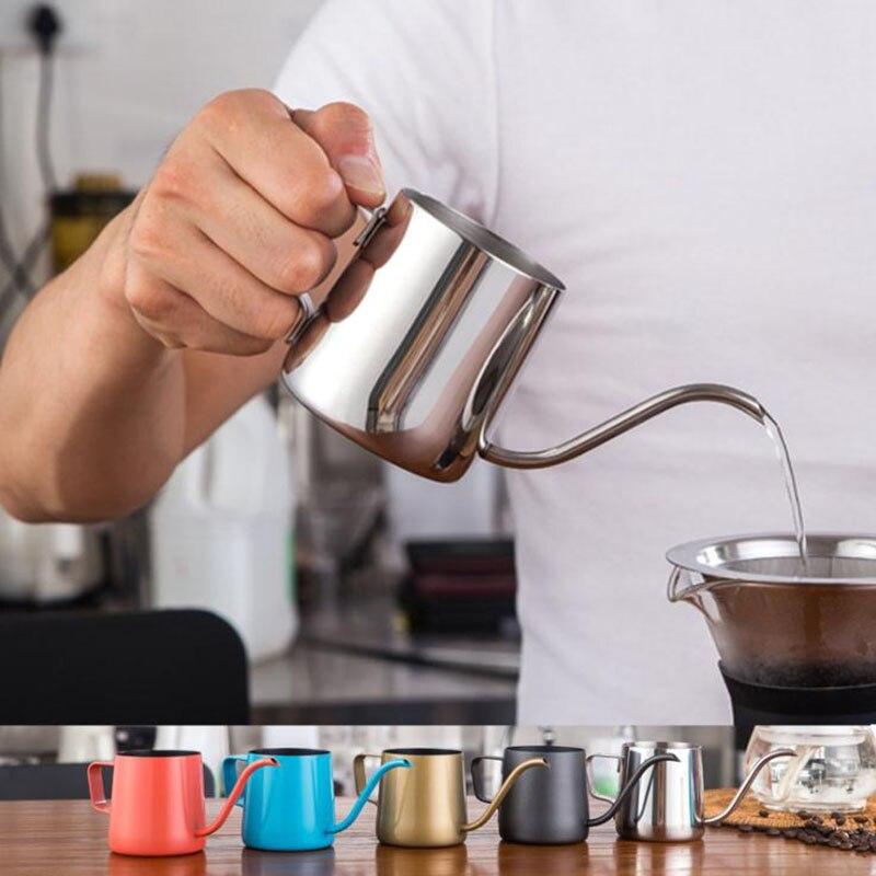 Микк гусиная шея капельный горшок тефлоновый антипригарный кофейник чайник кофеварка кувшин для молочной заморозки чай Перколятор чайник