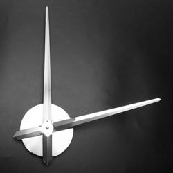 CHFL Noiseless Wall Clock Silent Movement Kit Clock Mechanism Parts With Clock Hands Wall Clock Diy Repair Parts - Silver