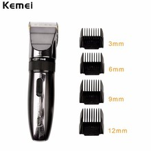 Kemei Portable 110-240V Professional Hair Trimmer Travel Home Cutting Haircut Machine with Titanium Ceramic Blade for Adult Kids