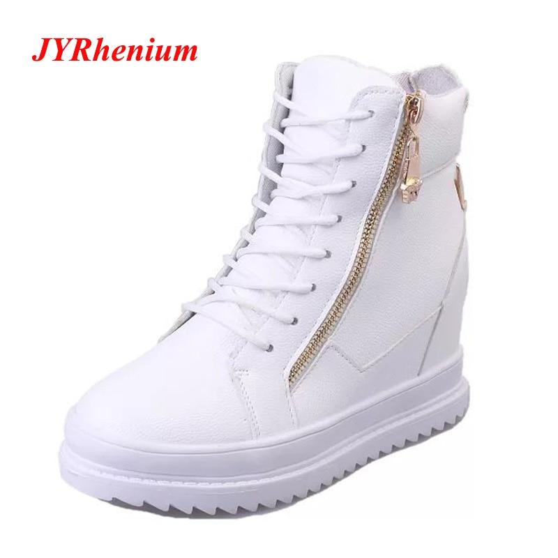 Zapatos Las black Alta Mujeres Moda Ladie Correr 2018 Mujer Chaussures Jyrhenium Botas White Llegada Para De Calidad Nueva Femme wUzxRqI
