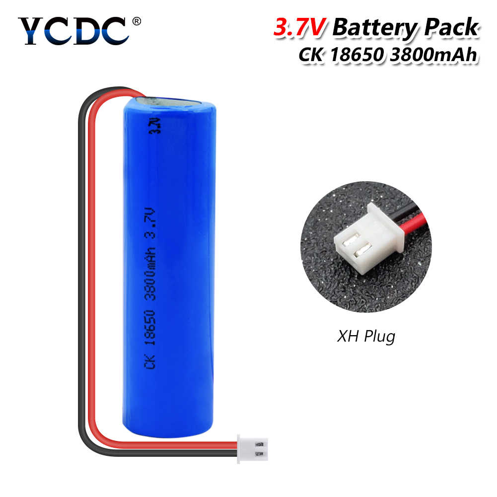 YCDC 3.7V 3800 mAh 18650 lithium-ion Rechargeable Battery Pack Negative wire With XH-2P Plug For Vacuum cleaner / Sweeper ues
