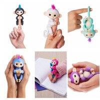 6 Stks/set Fingerling Interactieve Baby Apen Smart Kleurrijke Vingers Llings Smart Inductie Speelgoed Elektronische Huisdieren Kids Speelgoed Geschenken
