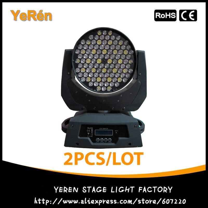 купить (2 Pieces/Lot) LED Moving Head Wash Light 108Pcs 3W RGBW Led Wash Light Led Stage Lighting онлайн