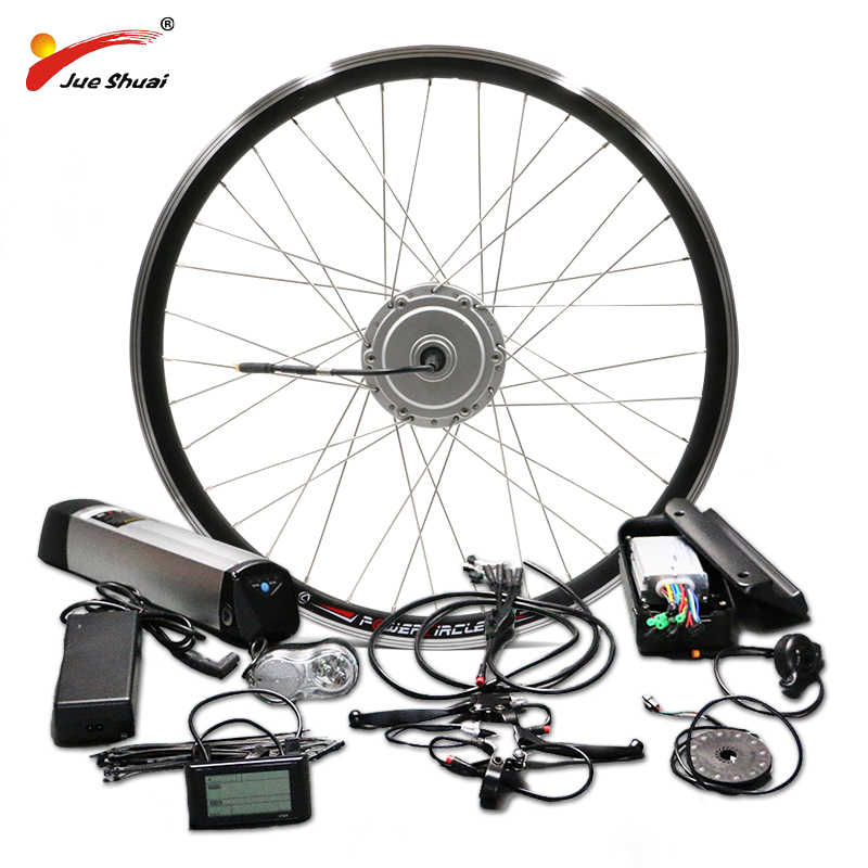 "BAFANG Motor Wheel 36V 250W 350W 500W Electric Bike Conversion Kit with 36V 10AH 12AH Lithium Battery 26"" 700C 28"" Ebike Kit"