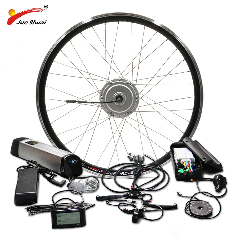 цена на BAFANG Motor Wheel 36V 250W 350W 500W Electric Bike Conversion Kit with 36V 10AH 12AH Lithium Battery 26 700C 28 Ebike Kit
