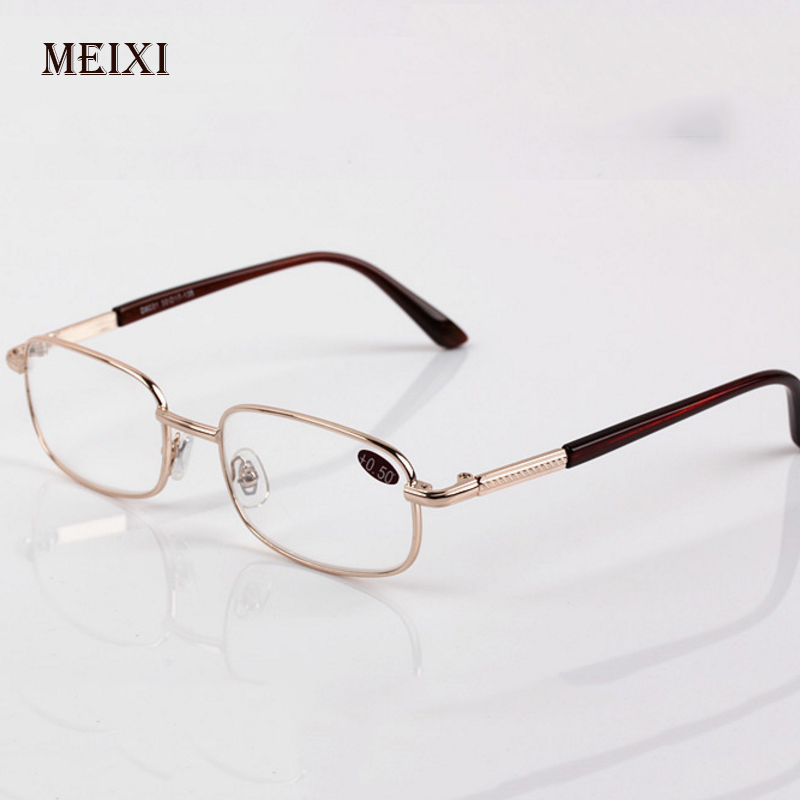 Men Women Boxed Reading Glasses Glass Lenses Presbyopia Alloy Frame Unisex Eyewear +0.5+0.75+1.25+1.75+2.25+2.75+3.25+3.75