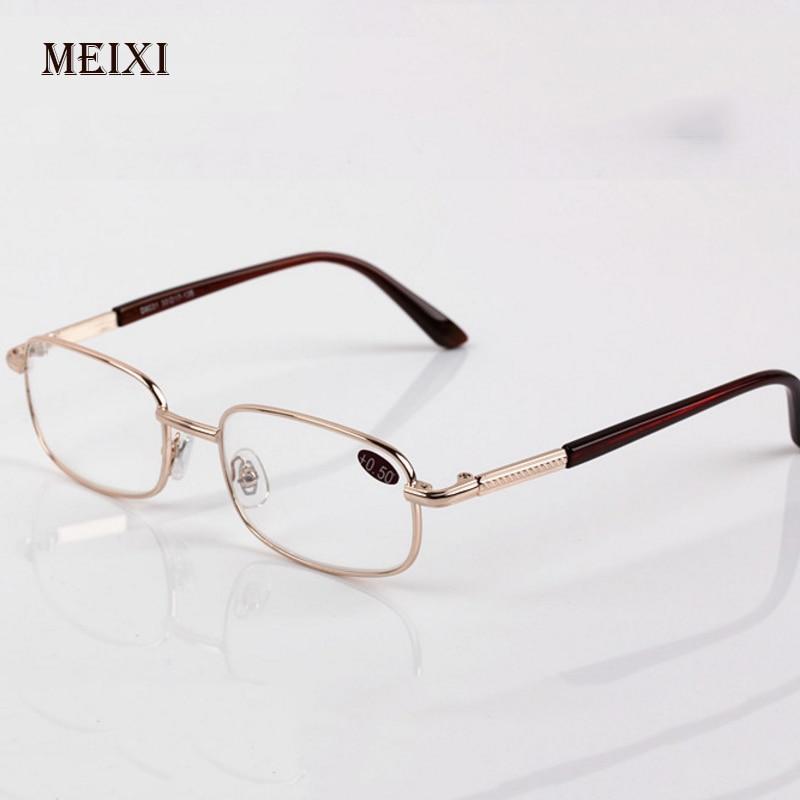 Men Women Boxed Reading Glasses Glass Lenses Presbyopia Alloy Frame Unisex Eyewear +0.5+0.75+1.25+1.75+2.25+2.75+3.25+3.75