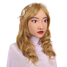 KOOMIHO Classic Style Soft Silicone Crossdress Cosplay Mask Female Head Mask Handmade Makeup Transgender Mask for Big Head 1G