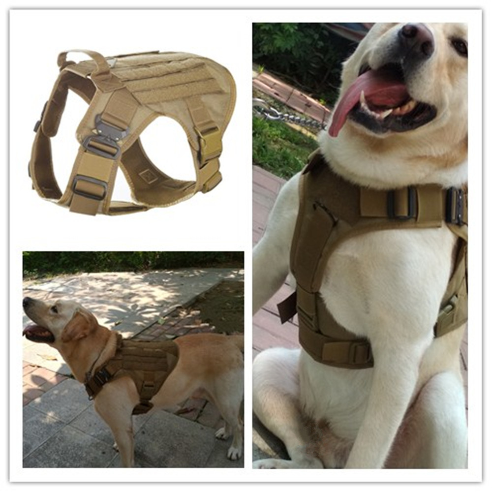 Waterproof 1050D Nylon Molle System Tactical Dog Training Military Dog Harness Hunting dog Vest Police dog K9 Harness dog