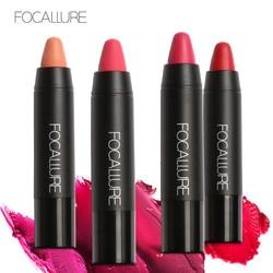 Focallure shimmer matte lipstick pencil 27 colors sexy red nude lipstick pen smooth metallic lipstick FA22