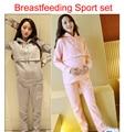 Беременным грудное вскармливание толстовка-спортивной комплект одежды беременных носить беременность одежда maternidade zwangerschaps беременна