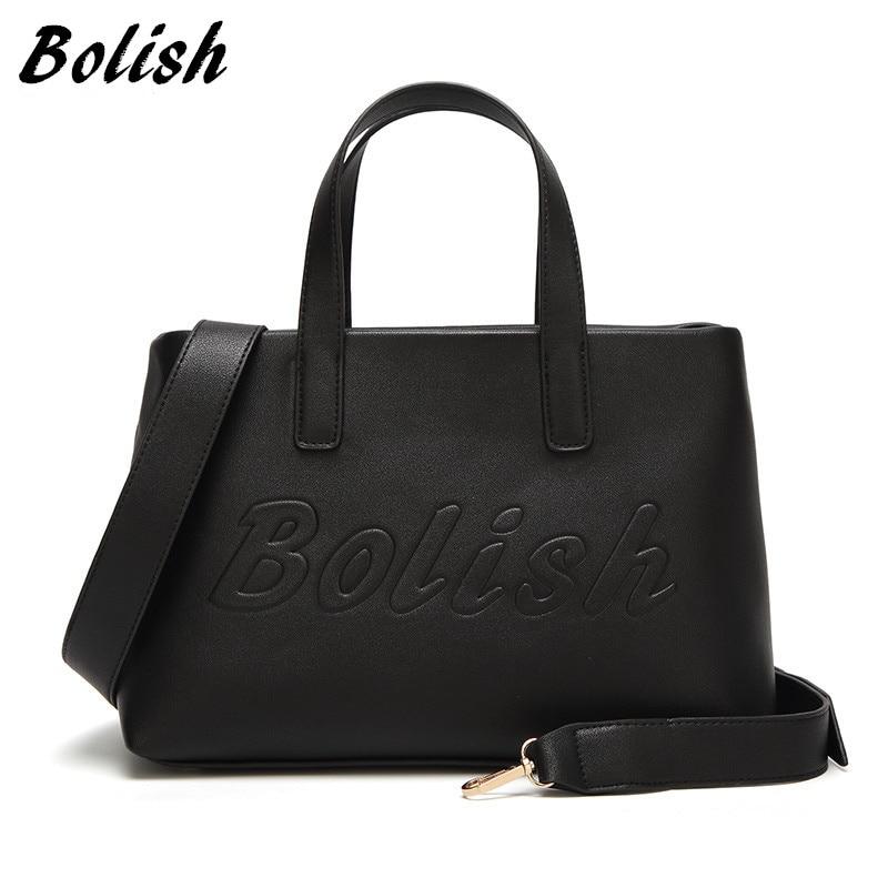Bolish Europos ir Amerikos PU odos moterų rankinės mados spausdinimo laiškas Moterų peties maišelis Crossbody Bag Moterų krepšys