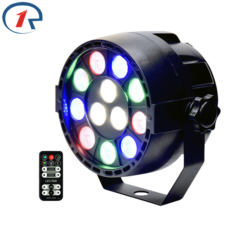 ZjRight 15W IR Remote flat LED Par light DMX512 Projector RGBW colorful stage light disco dj ktv bar party effect Dyeing light free shipping 54x3w flat led par light rgbw best quality par can dmx512 disco dj home party ktv led stage effect projector