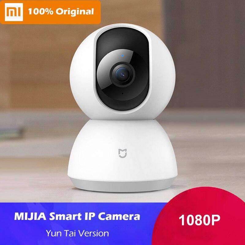 Caméra intelligente d'origine Xiaomi Mijia 1080 P caméra IP caméra Webcam 360 Angle WIFI Vision nocturne sans fil ia détection de mouvement améliorée