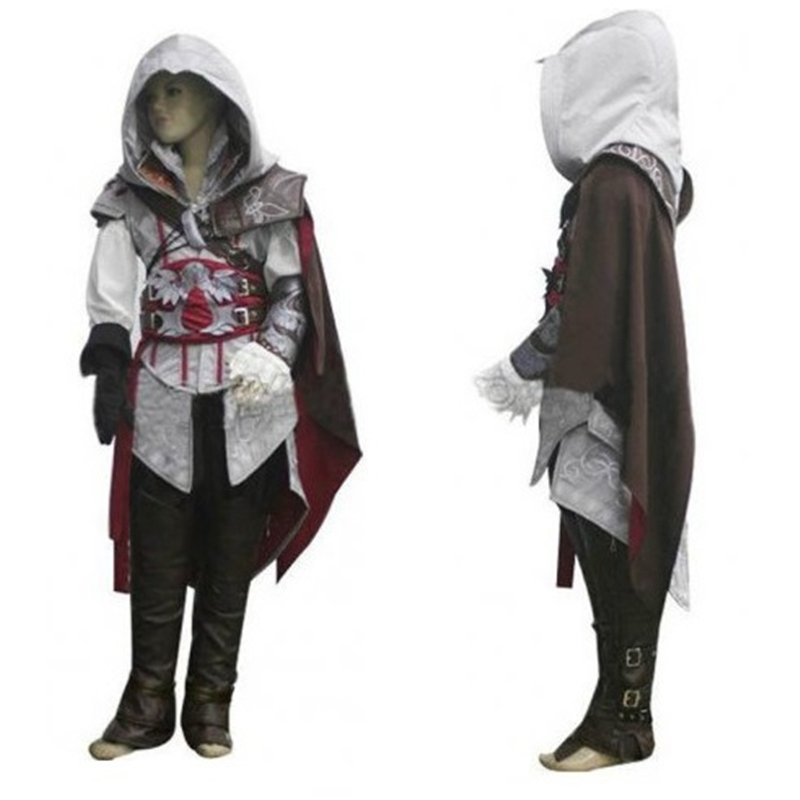 цены 2017 New Assassins Creed 3 III Conner Kenway Hoodie Coat Jacket Assassin's Creed Assassin's Costume Connor Cosplay