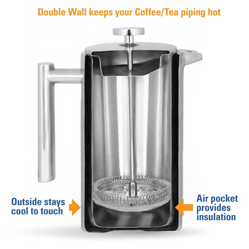 Stainless Steel Polished French Press 1